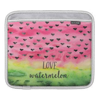 Bolsa De iPad Corações da melancia do amor da aguarela