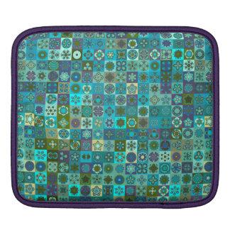 Bolsa De iPad Design floral do teste padrão do abstrato da