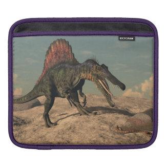 Bolsa De iPad Dinossauro de Spinosaurus que caça um cobra
