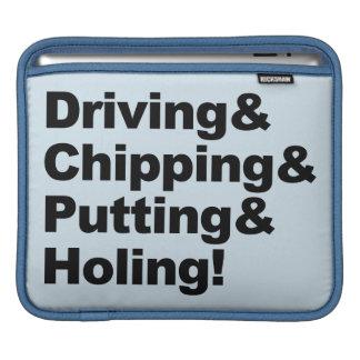 Bolsa De iPad Driving&Chipping&Putting&Holing (preto)