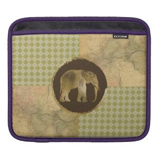 Bolsa De iPad Elefante africano no mapa e no Argyle