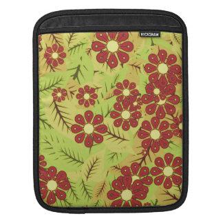 Bolsa De iPad Folha e flores