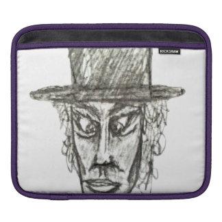 Bolsa De iPad Homem com ilustração do desenho de lápis da cabeça