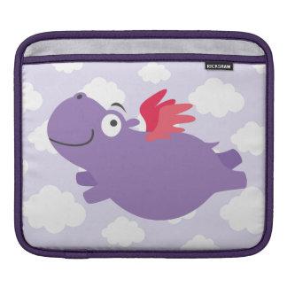 Bolsa De iPad Ilustração do hipopótamo do vôo