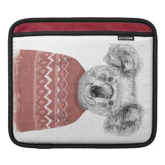 Bolsa De iPad Koala do inverno (vermelho)