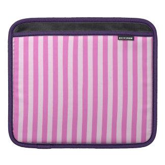 Bolsa De iPad Listras finas - luz - cor-de-rosa e rosa escuro