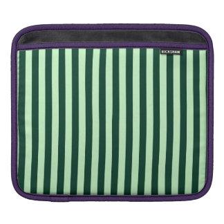 Bolsa De iPad Listras finas - luz - verdes e verdes escuro