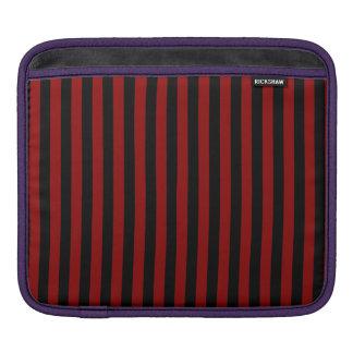 Bolsa De iPad Listras finas - pretas e obscuridade - vermelho