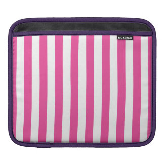 Bolsa De iPad Listras verticais cor-de-rosa