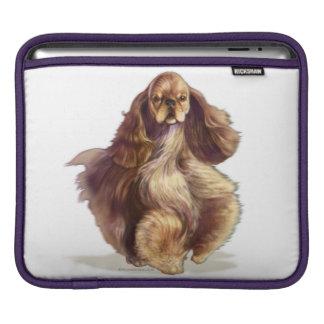 Bolsa De iPad Luva de Ipad do cão de cocker spaniel do americano