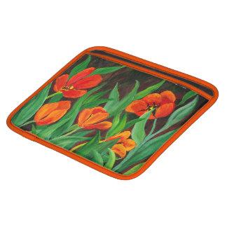 Bolsa De iPad Luva do rickshaw das tulipas