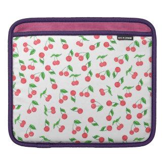 Bolsa De iPad mão bonito teste padrão tirado da cereja da