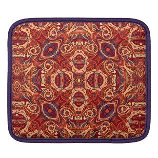 Bolsa De iPad Mão colorida abstrata design encaracolado tirado