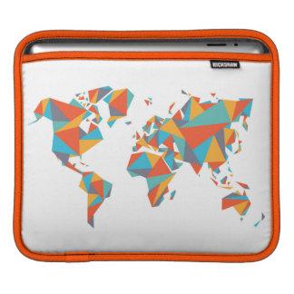 Bolsa De iPad Mapa do mundo geométrico abstrato