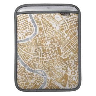 Bolsa De iPad Mapa dourado da cidade de Roma