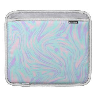 Bolsa De iPad mármore branco roxo azul cor-de-rosa colorido