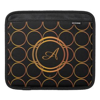 Bolsa De iPad Monograma dos anéis de ouro