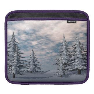 Bolsa De iPad Paisagem dos abeto do inverno
