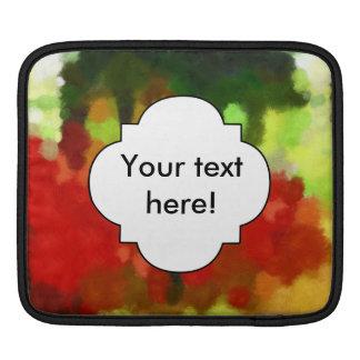 Bolsa De iPad Pintura verde vermelha