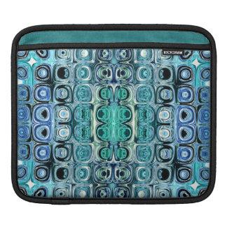 Bolsa De iPad Reflexões de turquesa e de cerceta