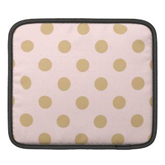 Bolsa De iPad Rosa e teste padrão de bolinhas do ouro