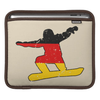 Bolsa De iPad SNOWBOARDER alemão da bandeira (preto)