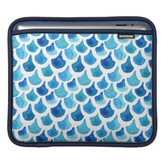 Bolsa De iPad Teste padrão azul da escala da aguarela