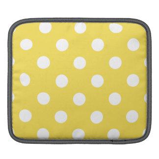 Bolsa De iPad Teste padrão de bolinhas amarelo