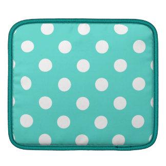 Bolsa De iPad Teste padrão de bolinhas azul da cerceta