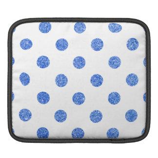 Bolsa De iPad Teste padrão de bolinhas azul elegante do brilho