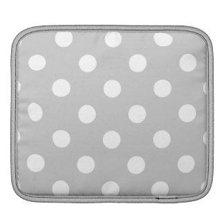 Bolsa De iPad Teste padrão de bolinhas cinzento