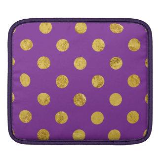 Bolsa De iPad Teste padrão de bolinhas elegante da folha de ouro