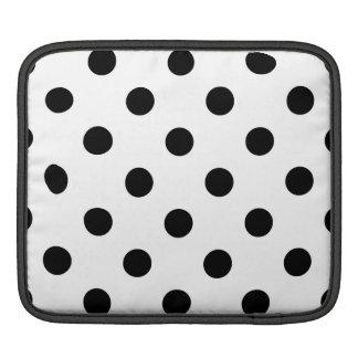 Bolsa De iPad Teste padrão de bolinhas preto e branco