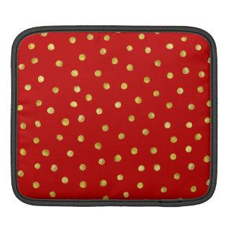 Bolsa De iPad Teste padrão de pontos elegante dos confetes da