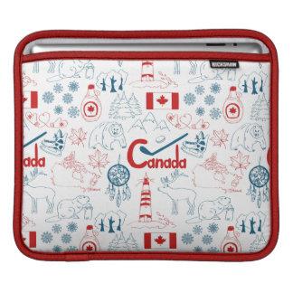 Bolsa De iPad Teste padrão dos símbolos de Canadá |