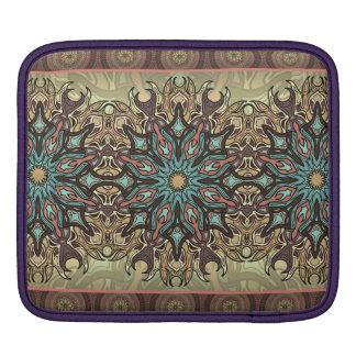 Bolsa De iPad Teste padrão floral étnico abstrato colorido da