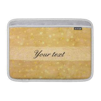 Bolsa De MacBook A folha de ouro personalizada Stars a aguarela