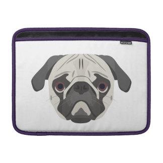Bolsa De MacBook A ilustração persegue o Pug da cara