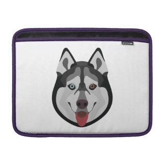 Bolsa De MacBook Air A ilustração persegue o rouco Siberian da cara