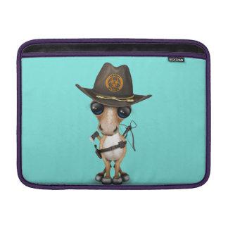 Bolsa De MacBook Air Caçador bonito do zombi do pônei