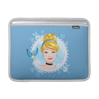 Bolsa De MacBook Air Cinderella e pássaro azul