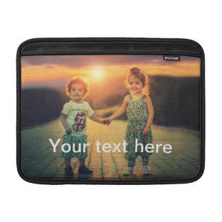 Bolsa De MacBook Air Foto e texto feitos sob encomenda
