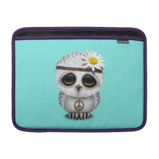 Bolsa De MacBook Air Hippie nevado da coruja do bebê bonito