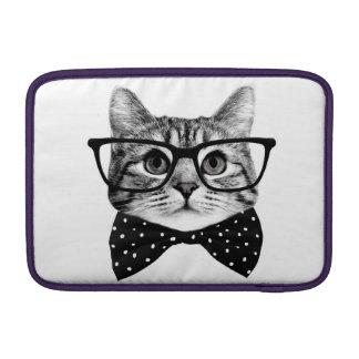 Bolsa De MacBook Air laço do gato - gato dos vidros - gato de vidro