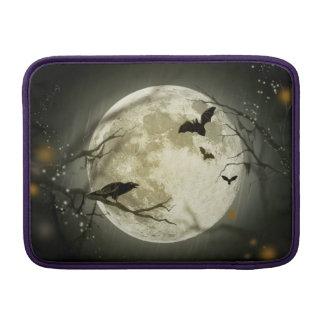 Bolsa De MacBook Air Lua do Dia das Bruxas - ilustração da Lua cheia
