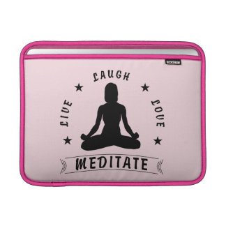Bolsa De MacBook Air O amor vivo do riso Meditate o texto fêmea (o