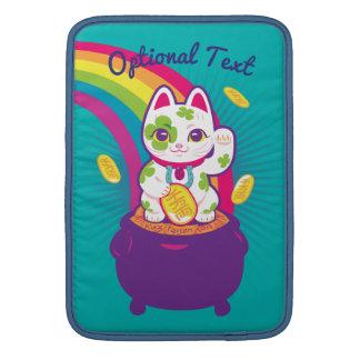 Bolsa De MacBook Air Pote de boa sorte de Maneki Neko do gato de ouro