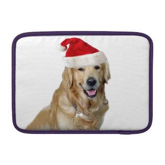 Bolsa De MacBook Cão-animal de estimação do cão-papai noel de claus