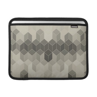 Bolsa De MacBook Design geométrico do cubo da escala cinzenta