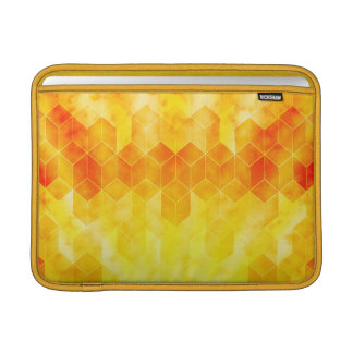 Bolsa De MacBook Design geométrico do cubo do Sunburst amarelo
